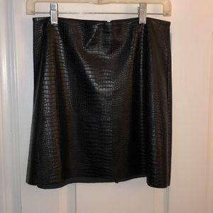 Black Snakeskin skirt. Never worn.
